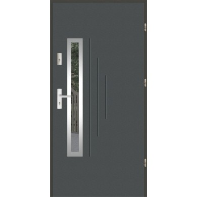 Drzwi wejściowe stalowe zewnętrzne SP GALA 85 INOX