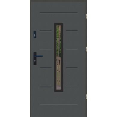 Drzwi wejściowe stalowe zewnętrzne LUX GALA 73 BLACK