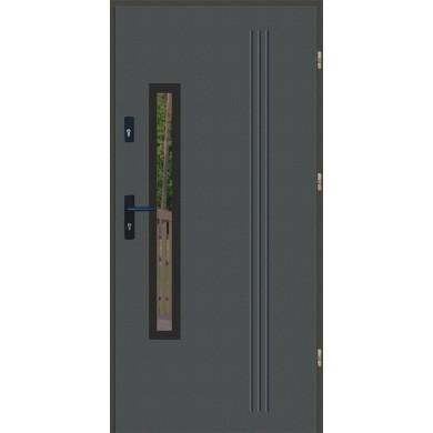 Drzwi wejściowe stalowe zewnętrzne LUX GALA 78 BLACK