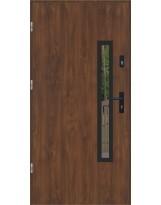 Drzwi wejściowe stalowe model LUX PŁASKIE 76 BLACK