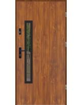 Drzwi wejściowe stalowe model LUX GALA 85 BLACK