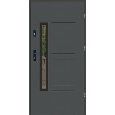 Drzwi wejściowe stalowe zewnętrzne LUX GALA 86 BLACK