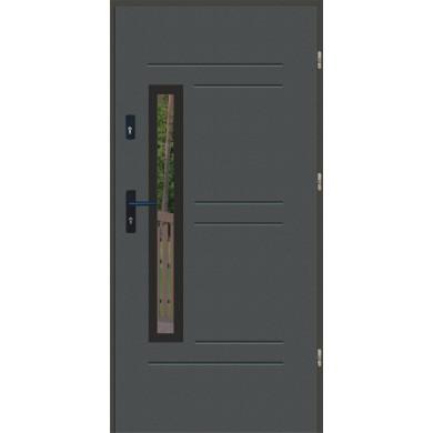 Drzwi wejściowe stalowe zewnętrzne LUX GALA 87 BLACK
