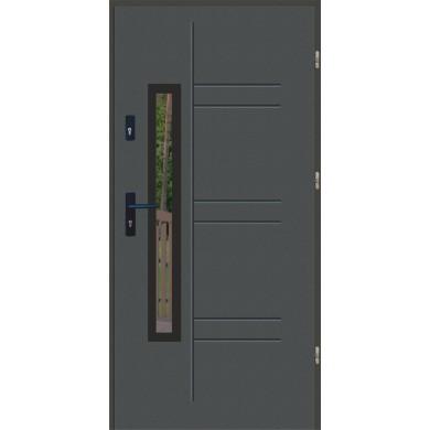 Drzwi wejściowe stalowe zewnętrzne LUX GALA 177 BLACK