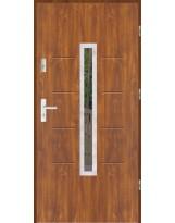 Drzwi wejściowe stalowe model LUX GALA 74 INOX