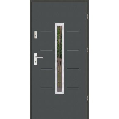 Drzwi wejściowe stalowe zewnętrzne LUX GALA 74 INOX