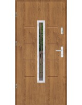 Drzwi wejściowe stalowe model SP GALA 74 INOX