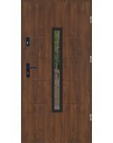 Drzwi wejściowe stalowe model LUX GALA 74 BLACK