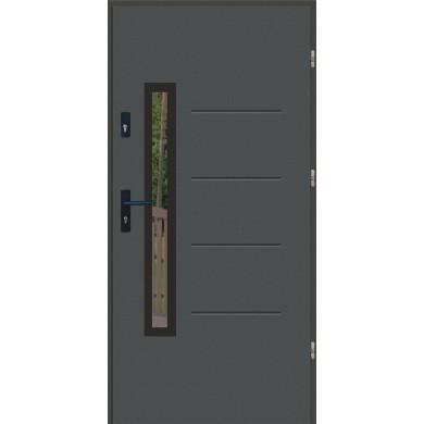Drzwi wejściowe stalowe zewnętrzne LUX GALA 77 BLACK