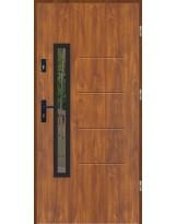 Drzwi wejściowe stalowe model LUX GALA 77 BLACK