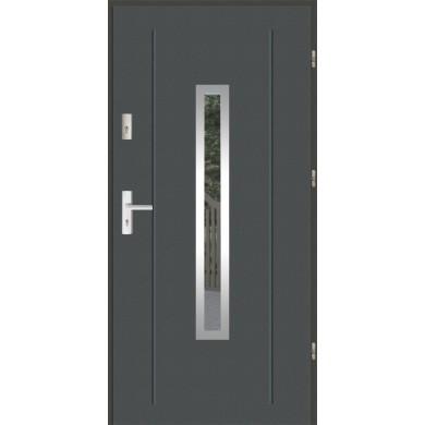 Drzwi wejściowe stalowe zewnętrzne LUX GALA 84 INOX