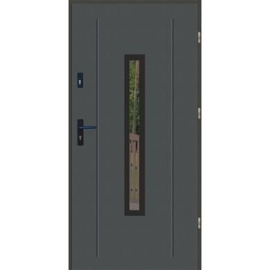 Drzwi wejściowe stalowe zewnętrzne LUX GALA 84 BLACK