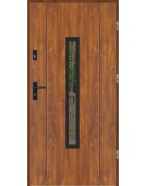 Drzwi wejściowe stalowe model LUX GALA 84 BLACK
