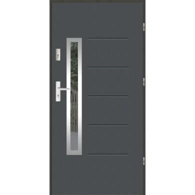 Drzwi wejściowe stalowe zewnętrzne LUX GALA 82 INOX