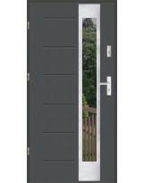 Drzwi wejściowe stalowe model SP GALA 27 INOX