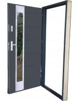 Ościeżnica stalowo Drewniana do drzwi wejściowych LUX
