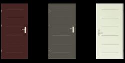 Drzwi weściowe techniczne, stalowe tłoczone
