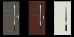 Drzwi UT 40 szklone malowane